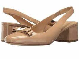 Michael Kors Caroline Sling Toffee  Patent Women's Slingback Heels Pumps 5m new - $67.20