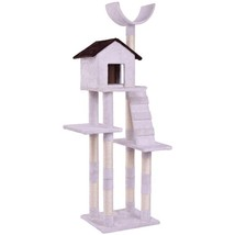 Condo Tower Scratching Posts Play House Cat Tree w/ - £80.72 GBP