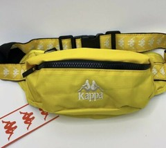 NEW Kappa 222 Banda Anais Waist Fanny Pack Size Medium Yellow Color White - $29.95