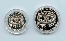 ISRAEL 1995 FAO 50th Anniversary Commemorative Silver Coin Set in Case COA - $123.56