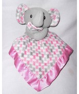 SL Home Fashions Elephant Baby Security Blanket Lovey Pink Grey RN 119741 - $34.63