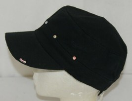 Pinky Bolle Brand Decorative Womans Hat Black Softball Mom Patch image 2