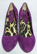 Jessica Simpson Purple Suede High Heel Pumps Slip On Shoes Womens Size 9 - $22.32