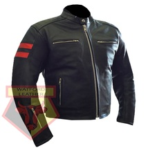 CUSTOM 4599 BLACK/ORANGE  MOTORBIKE MOTORCYCLE COWHIDE LEATHER ARMOURED ... - $194.99