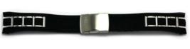 ORIGINAL NEW CITIZEN WATCH BAND BLACK RUBBER / STAINLESS STEEL PART #59-... - $207.90