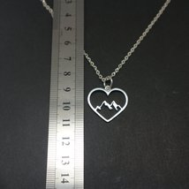 Mountain Range Heart Necklace Pendant image 5