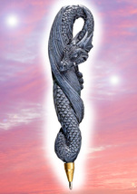 Haunted DRAGON PEN 33X WISHING COMPOSE YOUR WISH MAGICK WITCH Cassia4 - $35.00