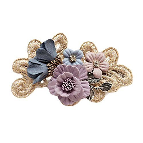 Cloth Hair Bow Handmade Flower Hair Barrettes French Barrette Style Bowknot