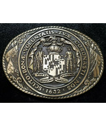 RARE! Vintage Tony Lama 1st Ed State Series, State of Maryland Belt Buck... - $54.00