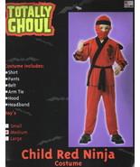 Child Red Ninja Halloween Costume Medium 5-8, NEW UNUSED - $6.89