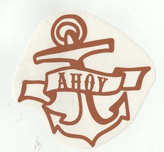 anchor ahoy brown decal ideal cars, trucks, home etc easy to apply