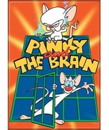 Pinky and the Brain Animated TV Series Logo Refrigerator Magnet NEW UNUSED - $3.99