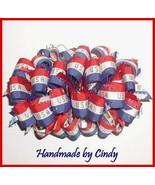 Team USA Hair Bow, USA Hair Bow, Independence Day Hair Bow, Veteran's Da... - $10.00