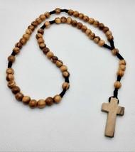 authentic olive wood catholic rosary Hand made in Bethlehem original100%... - $2.97