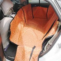 PANDA SUPERSTORE Waterproof Pet Car Seat Cover Dog Travel Mat for Rear Seat, Ora