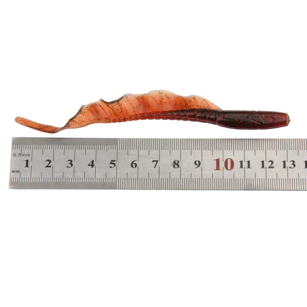 10pcs/Lot Classic Soft Lure 13cm 5-Inch Swimbaits Artificial Bait Silicone Worms image 2