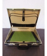 Vtg Ambassador Brief Case Hard Plastic Shell Blotter 18 x 13 x 5 Prop St... - $48.61