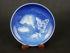 "Bing & Grondahl 6"" Mother's Day Plate, 1971, Mother Cat & Her Kitten, #P... - $6.81"