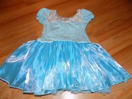 Size Medium Large 10 Samgami Baby Blue Skirted Dance Skating Leotard Sno... - $22.00