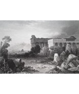 ITALY Roman Temples at Paestum - 1864 Fine Quality Print Engraving - $49.50