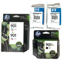 hp 901 901XL Expired Ink Cartridges 2 Tri-color 1 XL Black 2 XL Tri-color Lot - $46.52