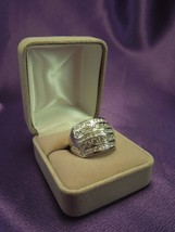 Sterling Silver Highway Channel Set CZ Band Ring Size 8 - $40.10