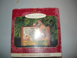 Hallmark Keepsake Christmas Ornament 1999 Bible Stories David & Goliath  and  - $9.98