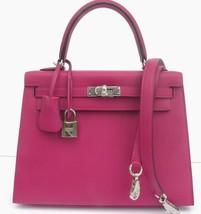 Hermes Kelly 25 Bag Rose Pourpre Epsom Sellier Kelly Bag 25cm Palladium ... - $15,835.05