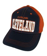 Cleveland Solid Front Air Mesh Back Adjustable Baseball Cap (Navy/Red) - $12.95