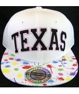 City Hunter Texas White Paint Spots Men's Adjustable Snapback Baseball Cap - $9.95