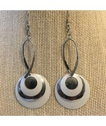 Silver Tone and White Earrings - $9.80