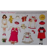 Mary Christmas Paper Doll Theresa Borelli 1991 + Cardstock + Envelope New  - $7.49