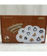 HOMEMAXS 16 PCS 3D COOKIE CUTTERS AND CAKE MOLDS - FS - $19.01