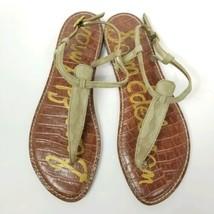 Sam Edelman Gigi Sandals Camo Thong Sandal Size 8.5 US 39.5 EUR Green Brown Shoe - $32.73