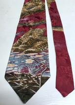 Leopard Wildcat Endangered Species Silk Neck Tie Made in USA - $13.75