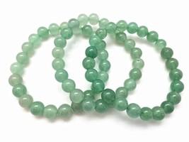 Green aventurine bracelet elastic bracelet healing crystal bracelet  - $12.00