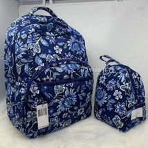 VERA BRADLEY set essential LARGE backpack & lunch bunch Tropics Tapestry... - $115.00