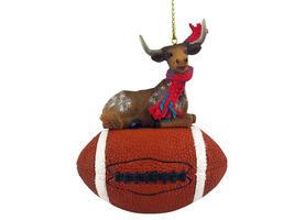 Long Horn Steer Football Ornament - $17.99
