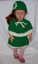 American Girl 3 Piece outfit, Handmade Crochet, 18 Inch Doll, Poncho, Sk... - $22.00