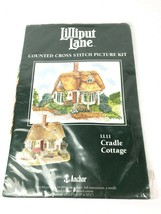 Anchor Lilliput Lane Cradle Cottage Counted Cross Stitch Picture Kit  LL... - $39.55