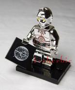 TC-14 Silver Chrome Star Wars Droid Minifigure +Stand The Phantom Menanc... - $11.00