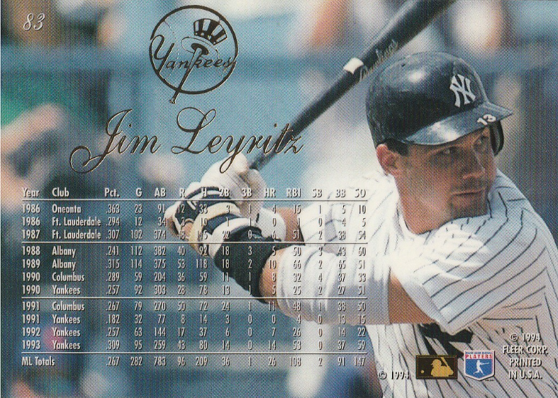 1994 Flair #83 Jim Leyritz