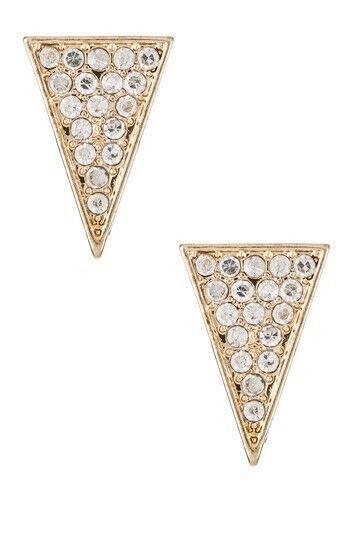 Jules Smith Or Zircone Cristal Pierre Allongé Triangle Boucles D'Oreilles