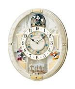F/S Seiko Wall Clock Mickey Mouse Radio Karakuri 12 Songs Melody Marble ... - $331.55