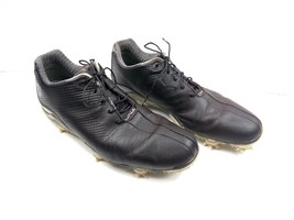 FootJoy Dryjoys DNA Men's Golf Shoes Black Leather 53455 Soft Spikes 10 M - $59.22
