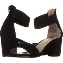 White Mountain Eryn Ankle Strap Sandals 551, Black, 5.5 US - $28.79