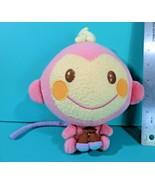 "Sanrio Nakajima Chi Chai Monchan Pink Cream Monkey 6"" Plush Stuffed Anim... - $34.95"