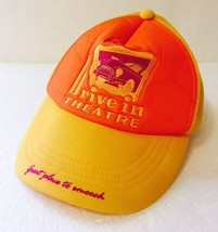 "Retro Hipster ""Hickey's Drive In Theatre"" Mesh Trucker Hat Yellow - Smooch - $24.66"