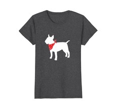 Bull Terrier Wearing Red Bandana Dog Silhouette T-Shirt - $19.99+