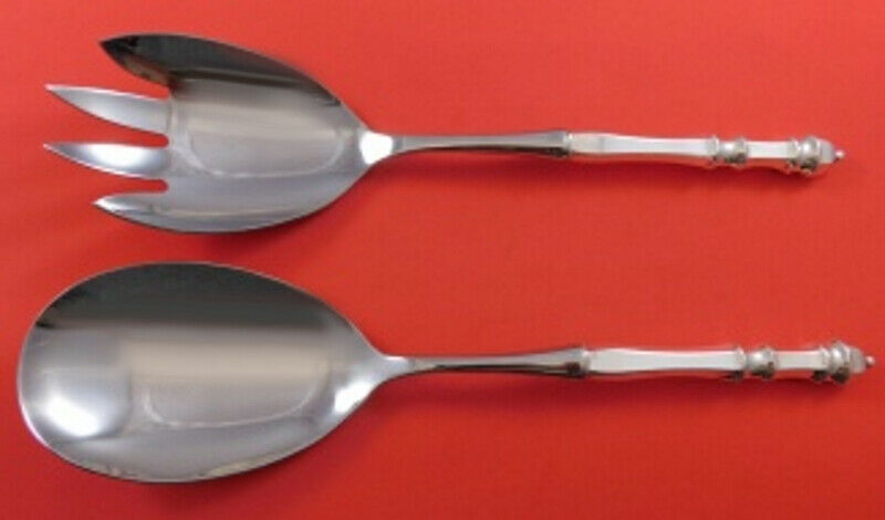 Primary image for Carpenter Hall by Towle Sterling Silver Salad Serving Set 2-Piece HH WS 11 1/2""